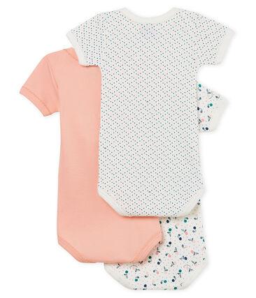 Tres bodis manga corta para bebé niña