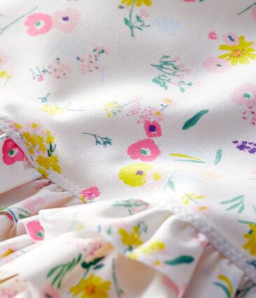 Bañador ecorresponsable bebé niña blanco Marshmallow / blanco Multico