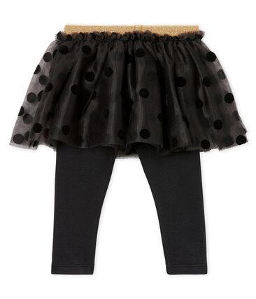 Falda con leggings para bebé niña gris Capecod