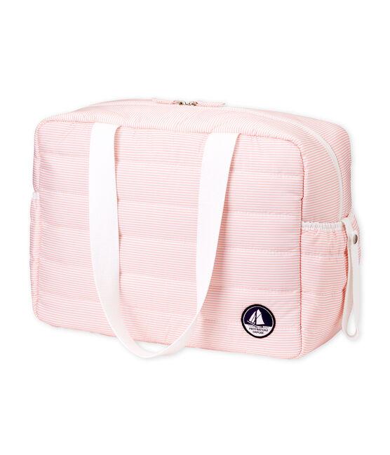 Bolsa de maternidad milrayas para bebé unisex rosa Rosako / blanco Marshmallow