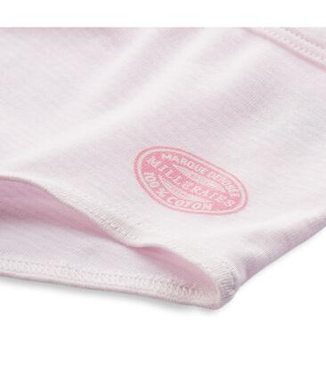 Shorty mil rayas para niña rosa Vienne / blanco Ecume