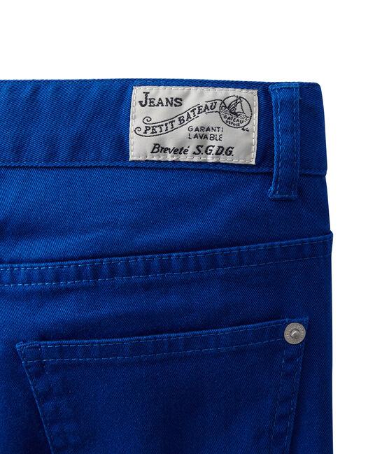 Pantalón colorido para niño en jean azul Perse