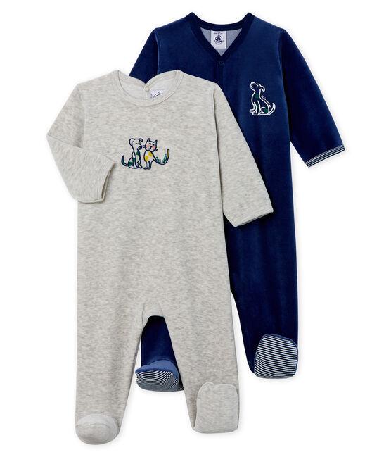 Dúo de pijamas de terciopelo para bebé lote .