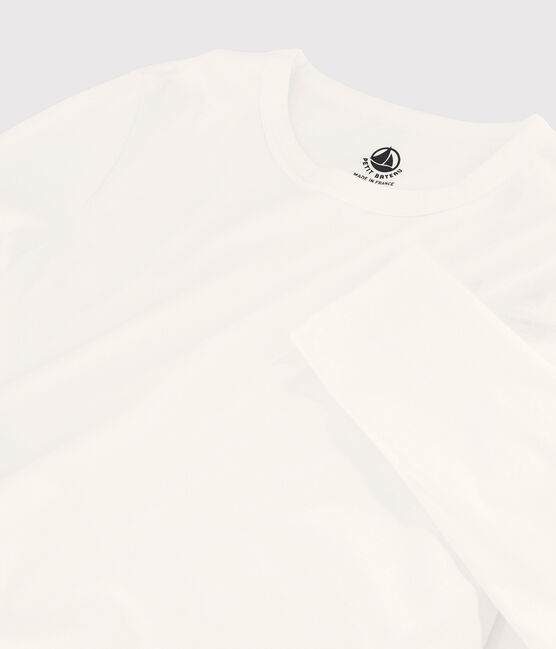 Camiseta de algodón Sea Island para mujer blanco Marshmallow