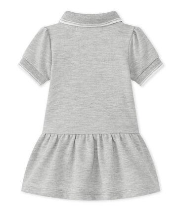 Vestido para niña de manga corta gris Beluga Chine