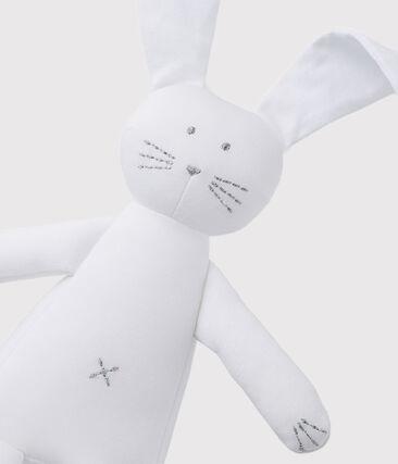 Peluche de conejo para bebé de jersey blanco Ecume