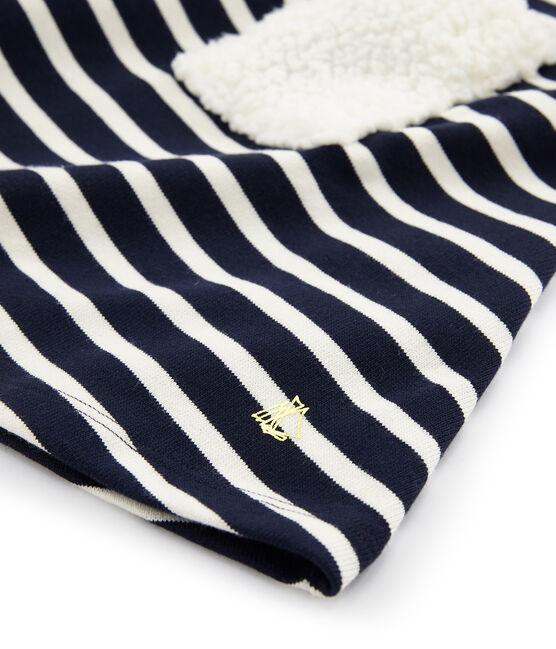 Vestido de manga larga para niña azul Smoking / beige Coquille