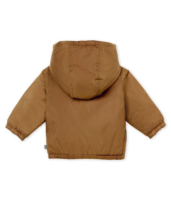 Cortavientos de bebé cálido y reversible unisex marrón Brindille