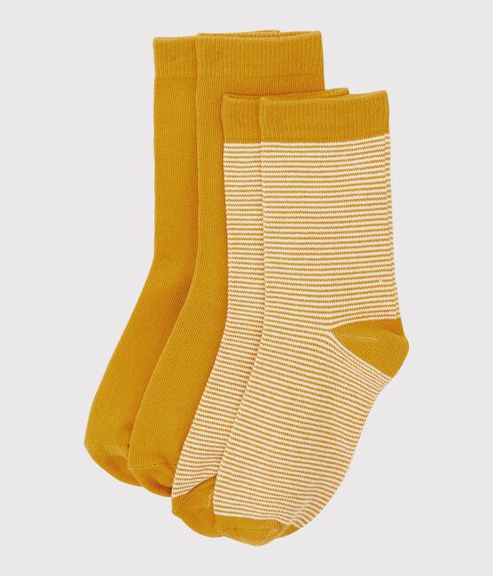Lote de calcetines para niño amarillo Boudor