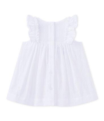 Vestido para bebé niña con bordado inglés