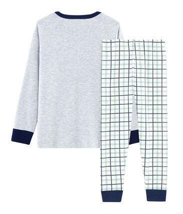Pijama de acanalado y tela túbica para niño