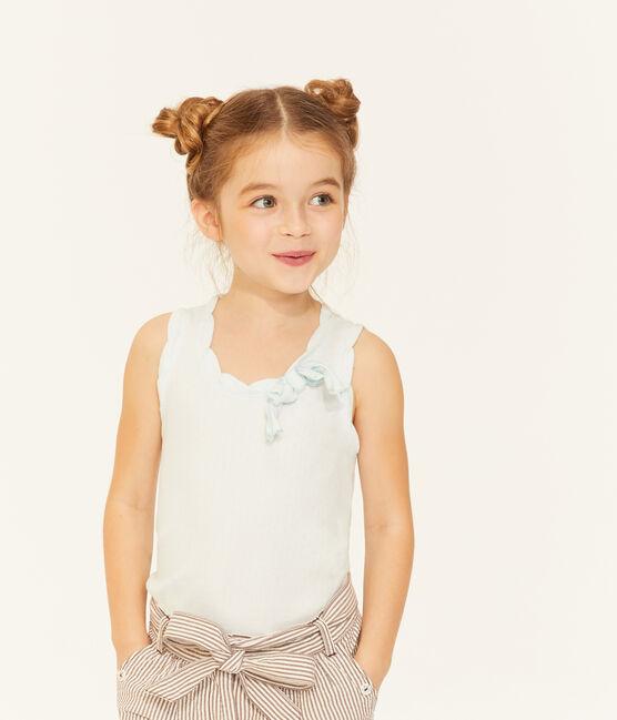 Camiseta de tirantes infantil para niña azul Bocal
