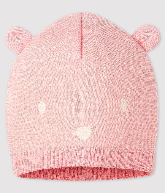 Gorro para bebé niña/niño rosa Minois