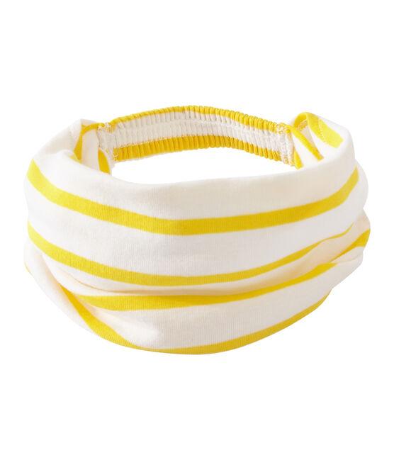 Bandana a rayas para niña blanco Marshmallow / amarillo Shine