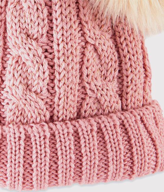 Gorro para niña rosa Charme / amarillo Or