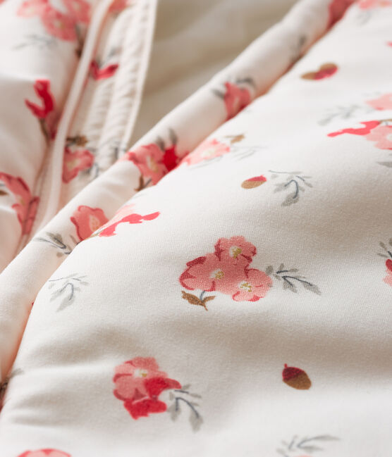 Buzo estampado de microfibra para bebé niña rosa Fleur / blanco Multico