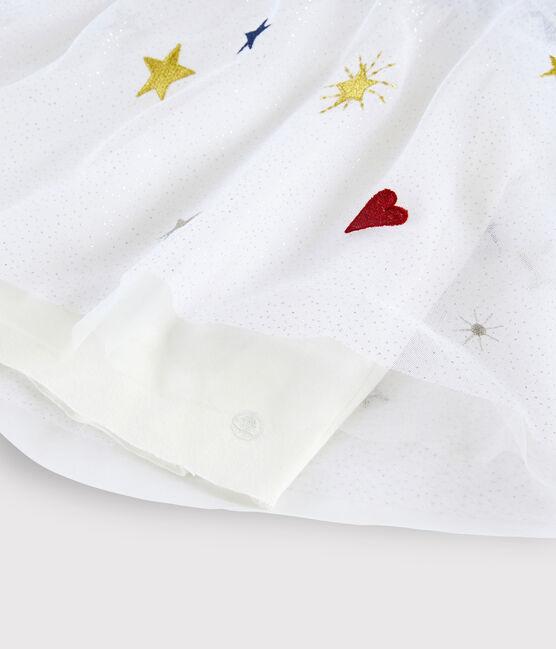 Vestido de manga larga para niña azul Smoking / blanco Multico