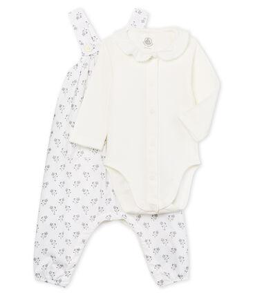 Conjunto 3 piezas ceremonial para bebé niña