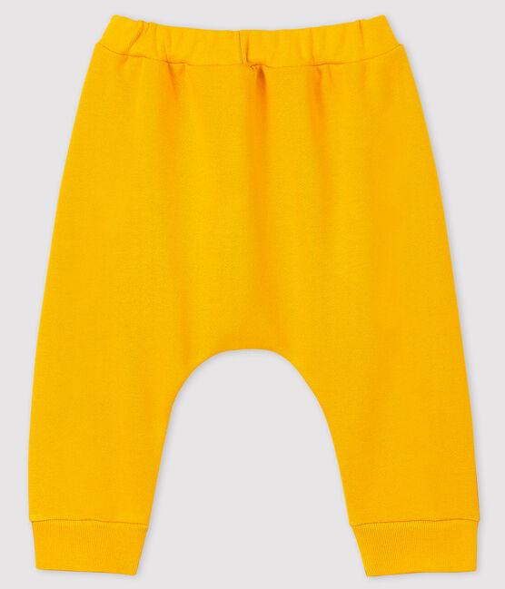 Pantalón de muletón para bebé niño/niña amarillo Boudor
