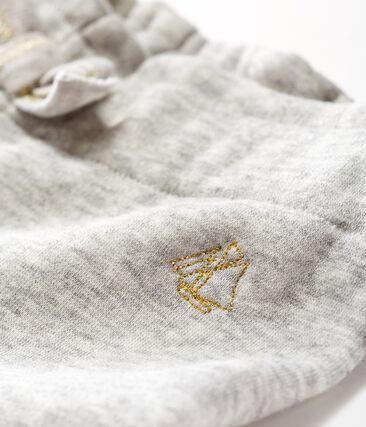 Pantalón de terciopelo para bebé niña gris Beluga