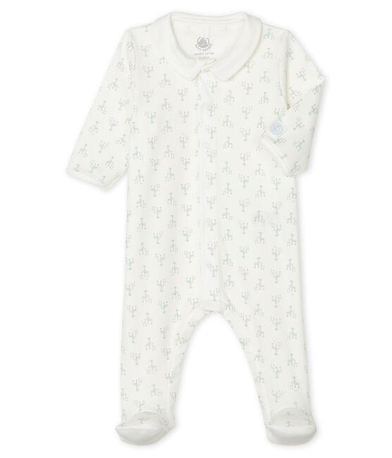 Pelele de punto para bebé de niña blanco Marshmallow / blanco Multico