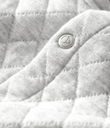Cárdigan de tejido túbico acolchado para bebé niño gris Beluga