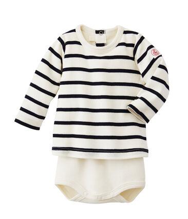 Body-camiseta rayado de bebé