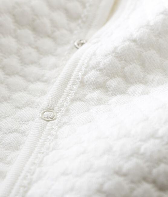Pijama unisex de bebé sin pies en túbico blanco Marshmallow
