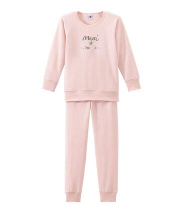 Pijama para niña en rizo esponja afelpadao extra cálido