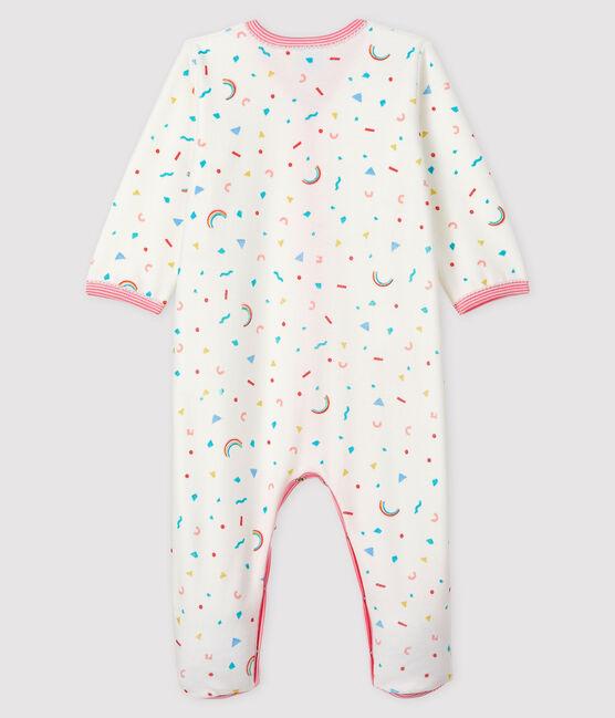 Pelele de terciopelo con estampado de confetis para bebé niña blanco Marshmallow / blanco Multico