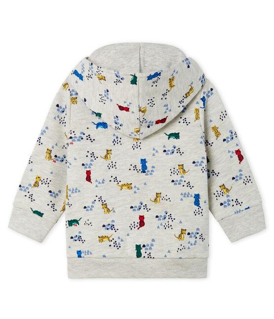 Sudadera con capucha de muletón estampada para bebé niño gris Beluga / blanco Multico