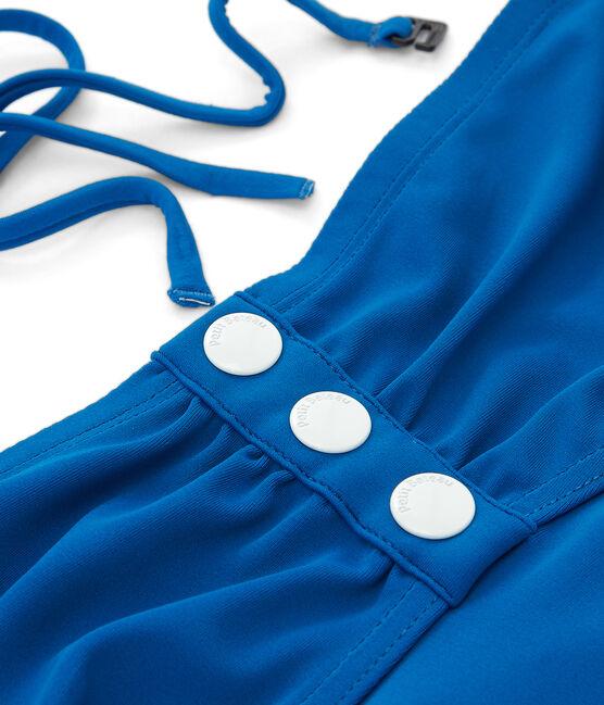 Traje de baño 1 pieza para mujer azul Riyadh