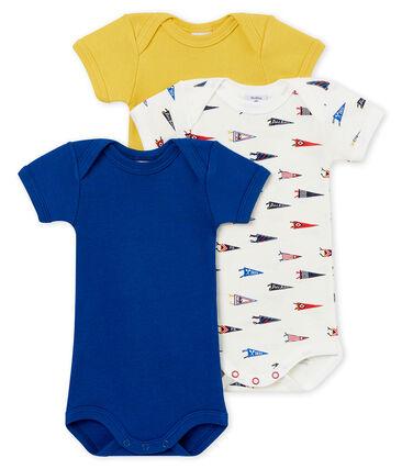 Trio de bodis de manga corta para bebé niño lote .