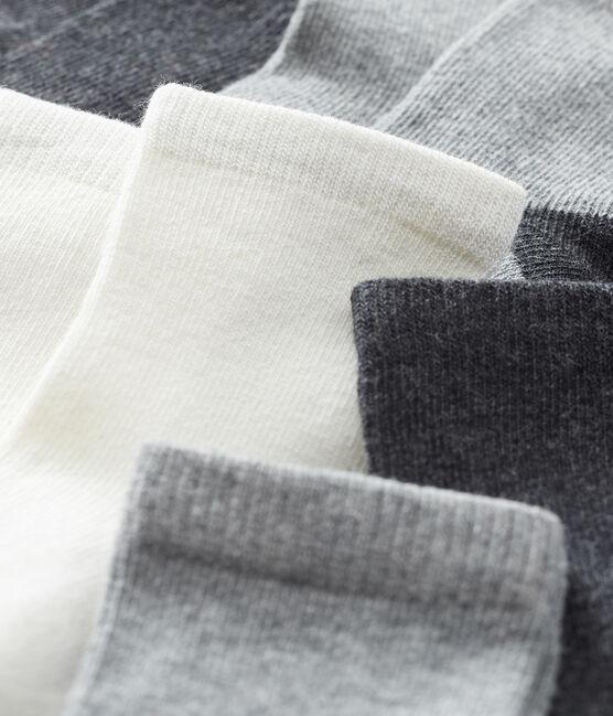 Lote de 5 pares de calcetines básicos para bebé niño gris City Chine