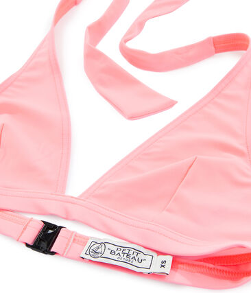 Sostén de traje de baño rosa Fluo Rose