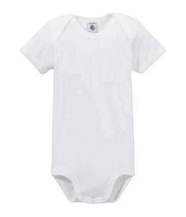 Body de manga corta para bebé blanco Ecume