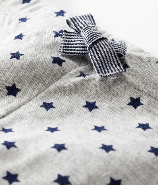 Pantalón de tejido túbico estampado para bebé gris Beluga / azul Smoking