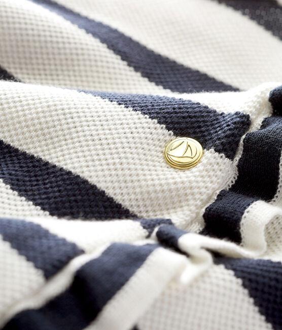 Vestido milrayas marinero para bebé niña blanco Marshmallow / azul Smoking