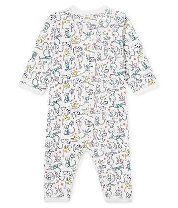 Pijama sin pies de punto para bebé niña blanco Marshmallow / blanco Multico