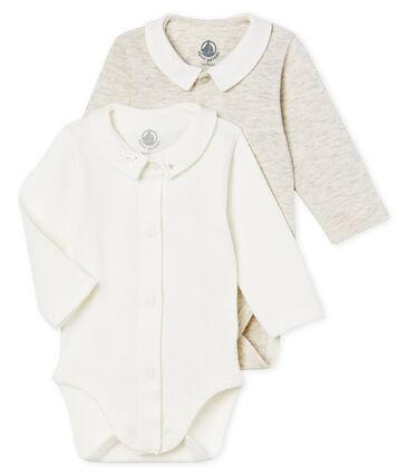 Lote de 2 bodis manga larga con cuello para bebé niño