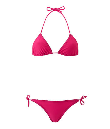 Bikini para mujer liso rosa Petunia