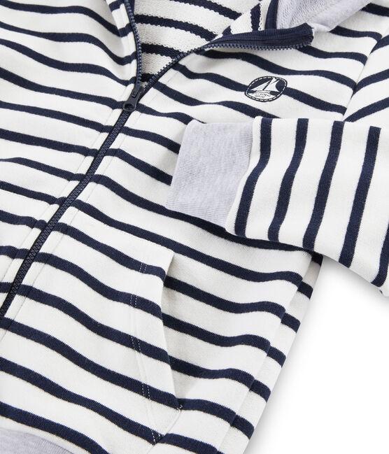 Sudadera de niño blanco Marshmallow / azul Smoking