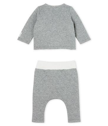 Conjunto de dos piezas para bebé de túbico acolchado gris Subway