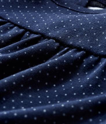 Blusa de manga larga estampada para bebé niña azul Smoking / blanco Marshmallow