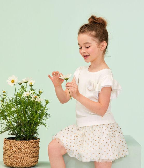 Camiseta de niña blanco Marshmallow