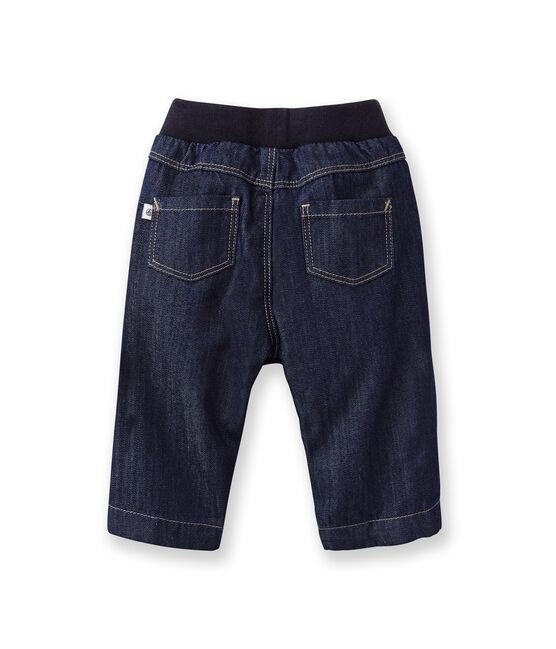 Pantalón vaquero forrado para bebé azul Jean