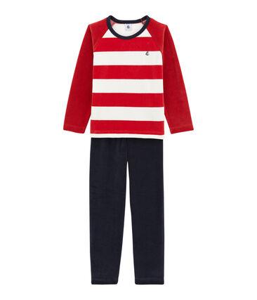 Pijama para niño azul Smoking / blanco Multico