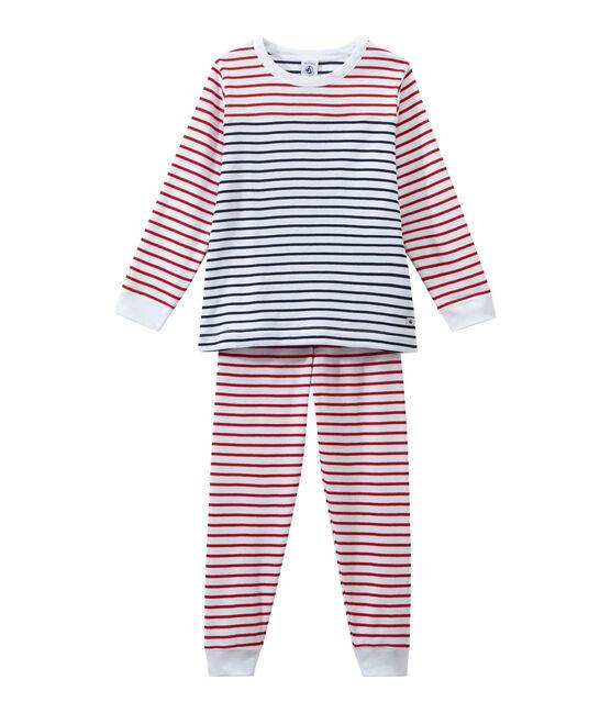 Pijama rayado para niño blanco Ecume / blanco Multico