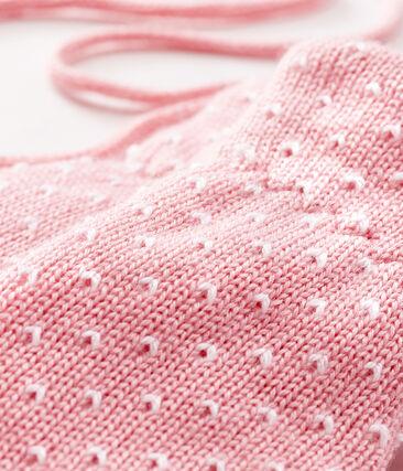 Manopla para bebé unisex con forro polar rosa Charme / blanco Marshmallow