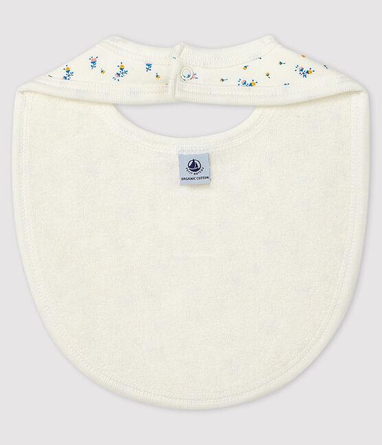 Babero de tejido acanalado para bebé blanco Marshmallow / gris Gris